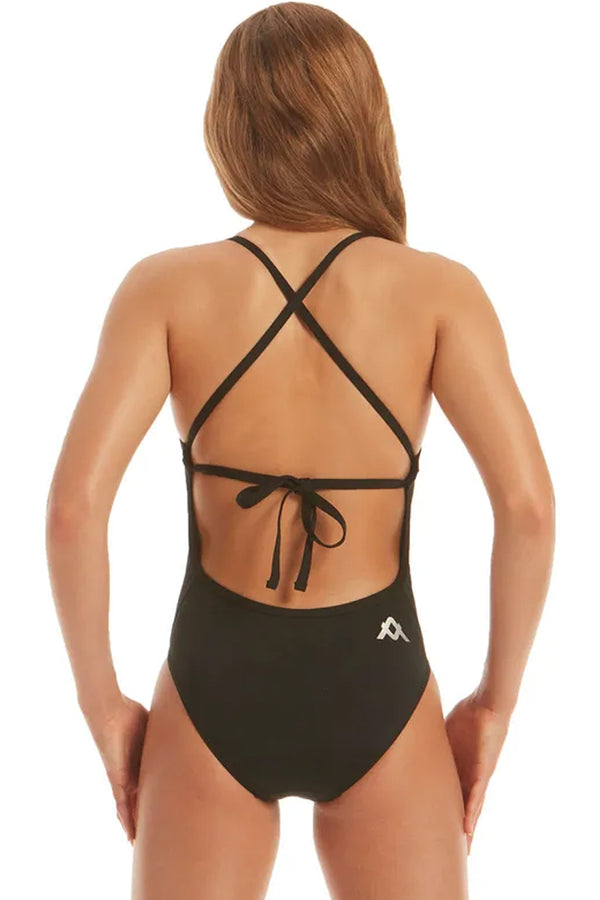 Amanzi - Jet Tie Back Girls One Piece Swimsuit