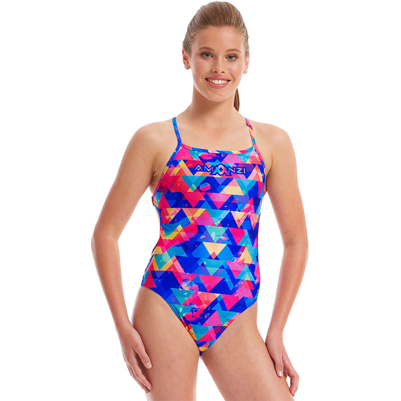 Amanzi - Spectrum Ladies Tie Back One Piece
