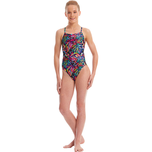 Amanzi - Tropical Twilight Girls Pro Back One Piece