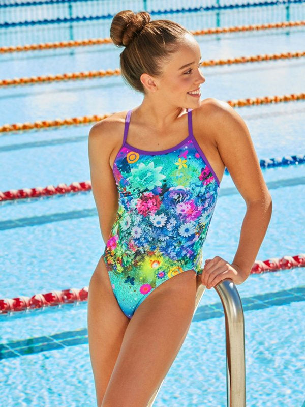Amanzi - Whimsical Wildflowers Ladies One Piece Swimsuit