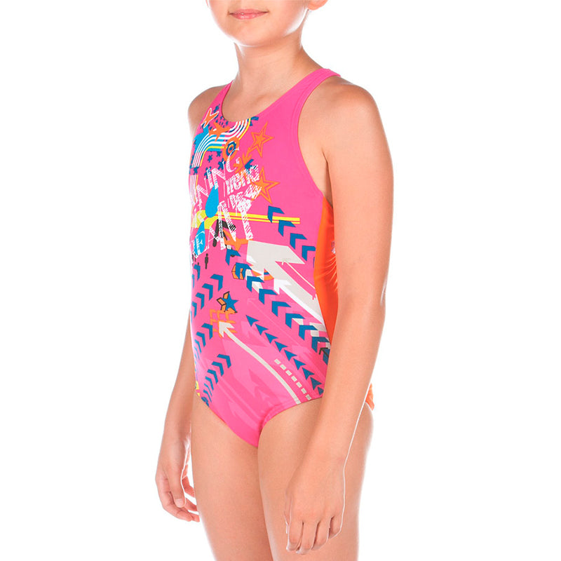 Arena - Circus Swim Pro Back Junior Swimsuit - Mango/Violet