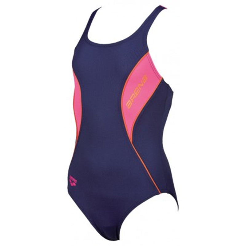 Arena - Fiord Swim Pro Back Junior Swimsuit - Navy/Rose