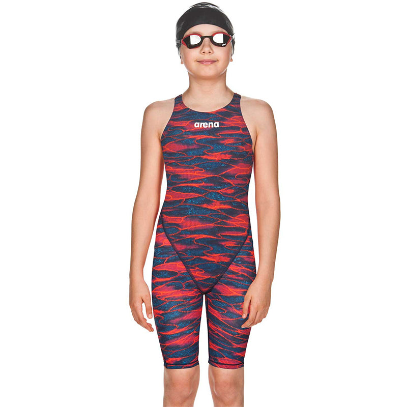 Arena - Girls Powerskin ST 2.0 Open Back - Blue/Red