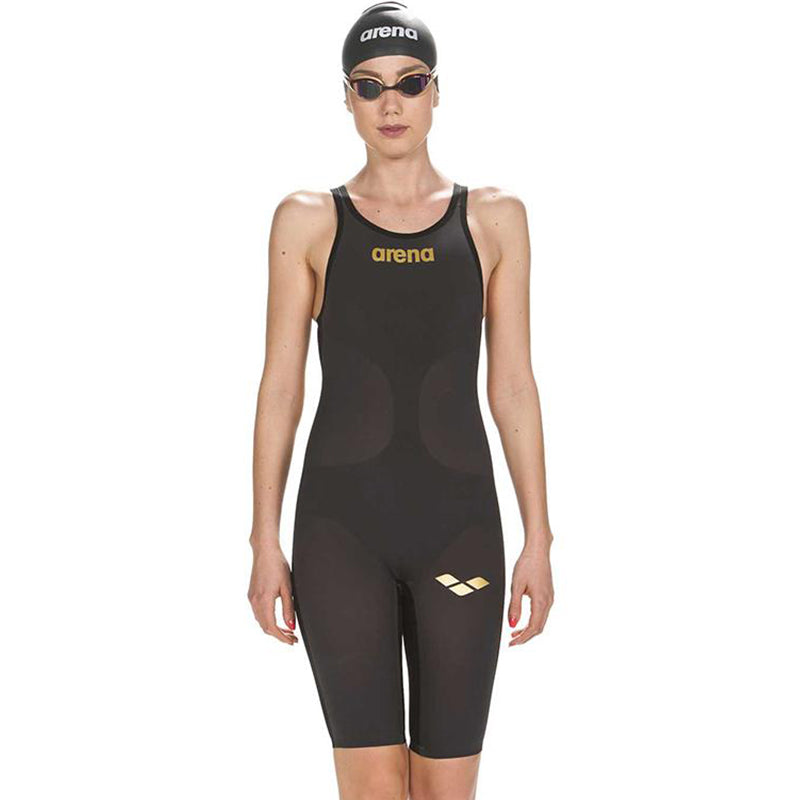 Arena - Powerskin Carbon-Air Full Body Short Leg Open Back - Dark Grey/Black