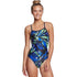 Dolfin - XtraSleek Eco Torrent V-2 Back Swimsuit (Blue/Green)