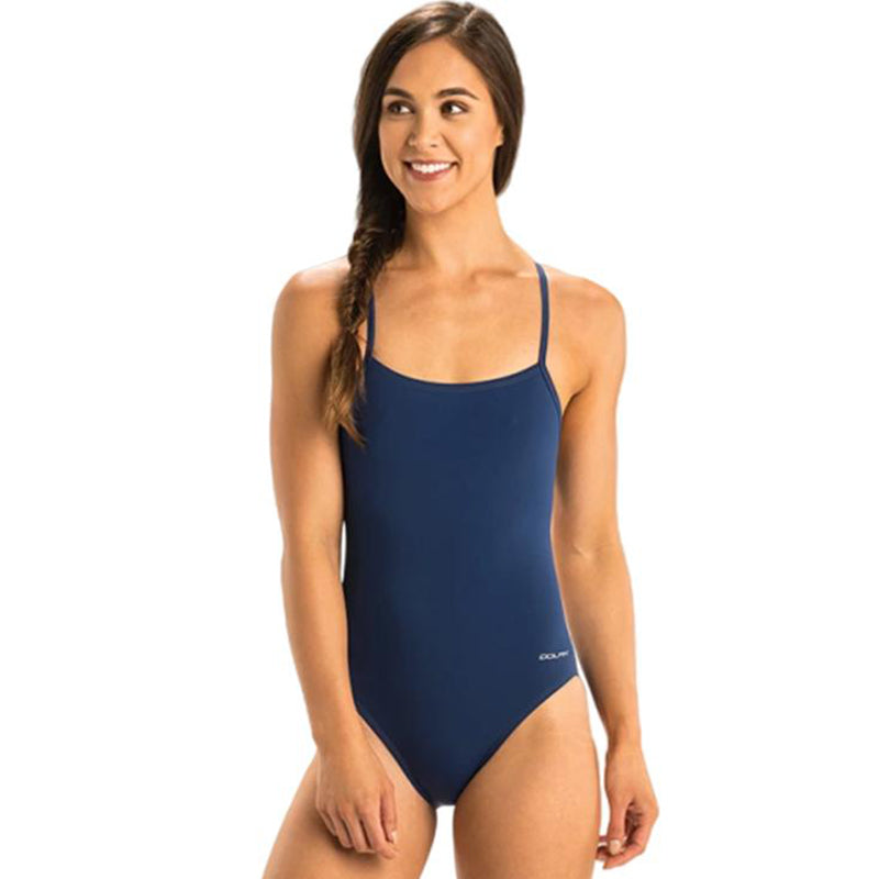 Dolfin - Graphlite Solid Navy Cross Back One Piece Swimsuit