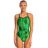 Dolfin - XtraSleek Eco Jolt V-2 Back Swimsuit - Green
