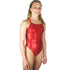 Dolfin - Metallics Red V2 Back Girls One Piece