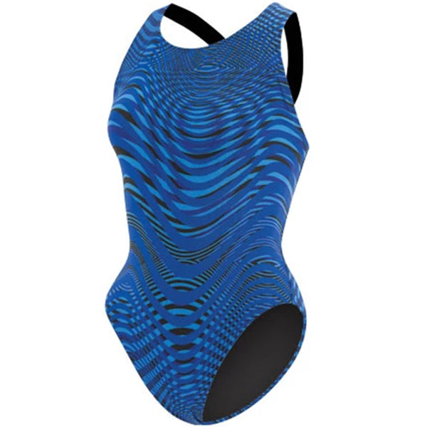 Dolfin - Poly Fusion Abyss Performance Back Swimsuit - Blue