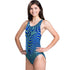 Dolfin - Poly Fusion Abyss Performance Back Swimsuit - Blue/Green