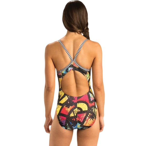 Dolfin Uglies - Beauty and the Beach V-2 Back One Piece Swimsuit