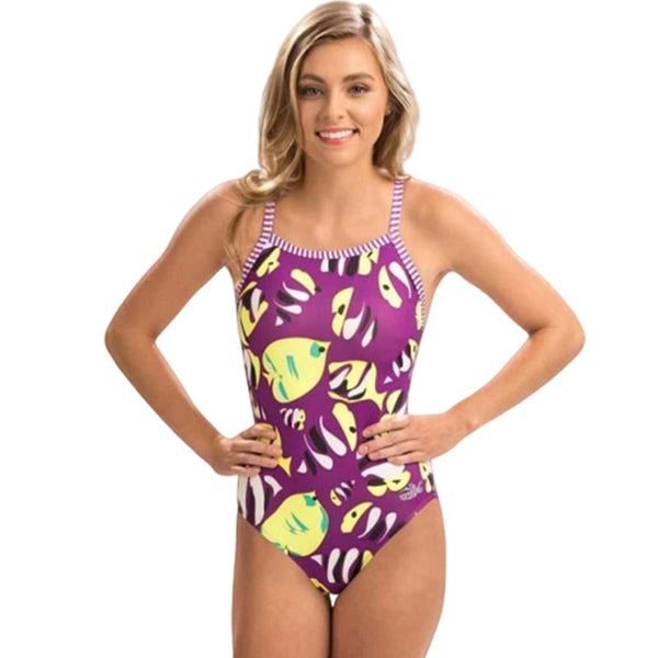 Dolfin Uglies - Fish Tales V-2 Back One Piece Swimsuit