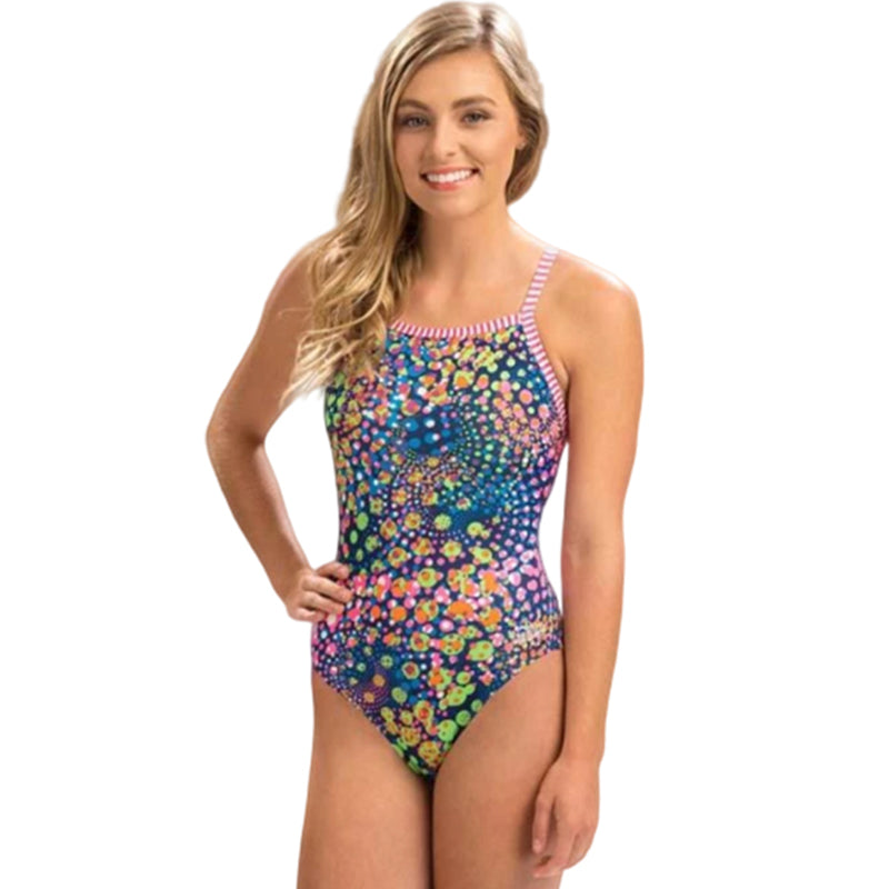Dolfin Uglies - Light Bright V-2 Back One Piece Swimsuit