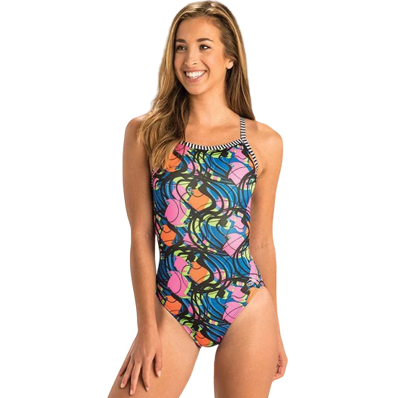 Dolfin Uglies - Party Gras V-2 Back One Piece Swimsuit