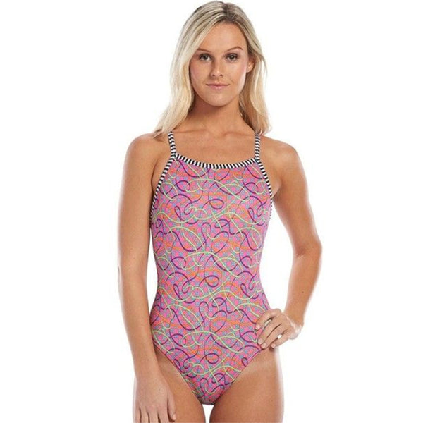 Dolfin Uglies - Soiree V-2 Back One Piece Swimsuit