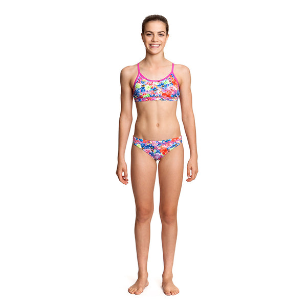 Funkita - Pretty Petal - Girls Racerback Two Piece