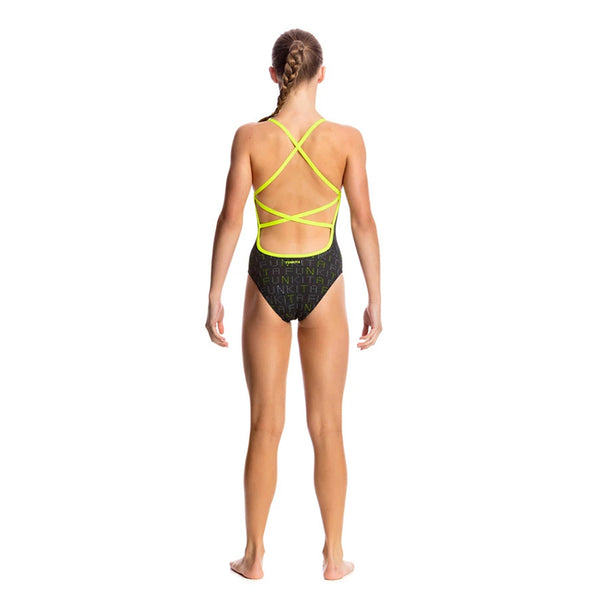 Funkita - Binary Babe - Girls Strapped In One Piece