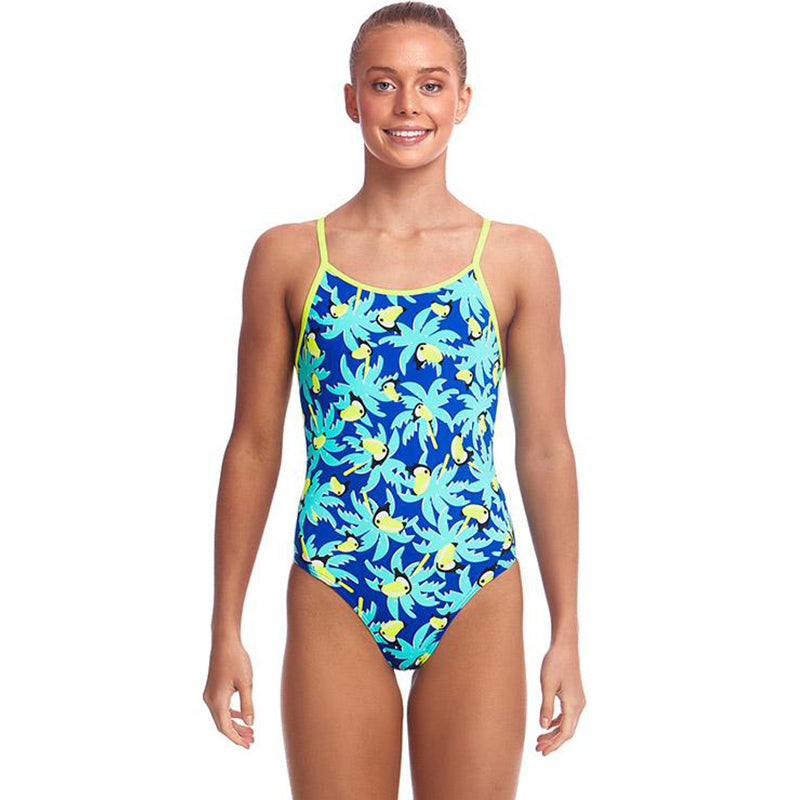 Funkita - Bird Brain - Girls Eco Diamond Back One Piece