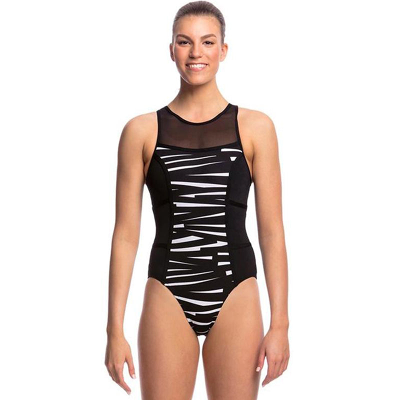 Funkita - Black Bondage - Ladies Hi Flyer One Piece