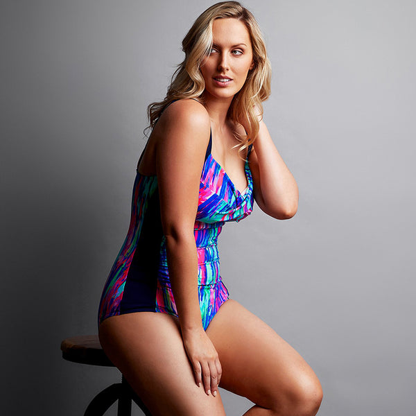 Funkita - Brush Strokes - Ladies Ruched One Piece
