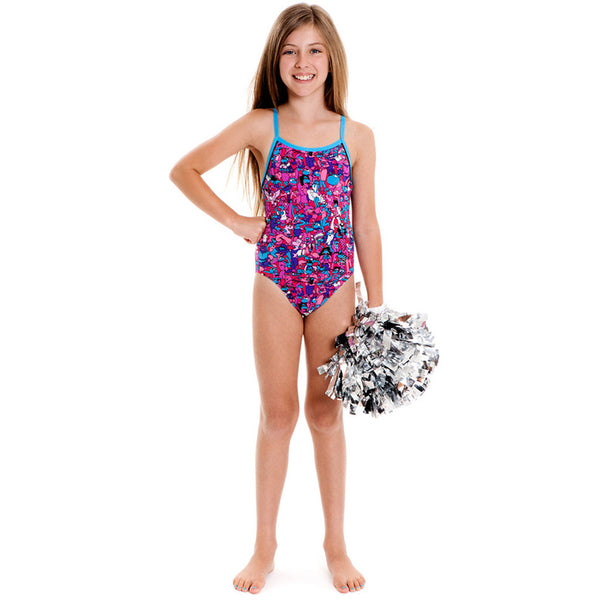 Funkita - Cartoon Candy - Girls Single Strap One Piece