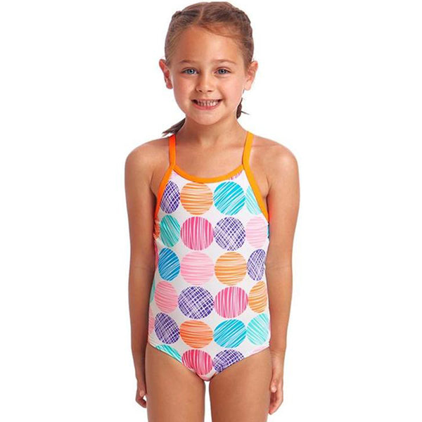Funkita - Cotton Candy - Toddler Girls Printed One Piece