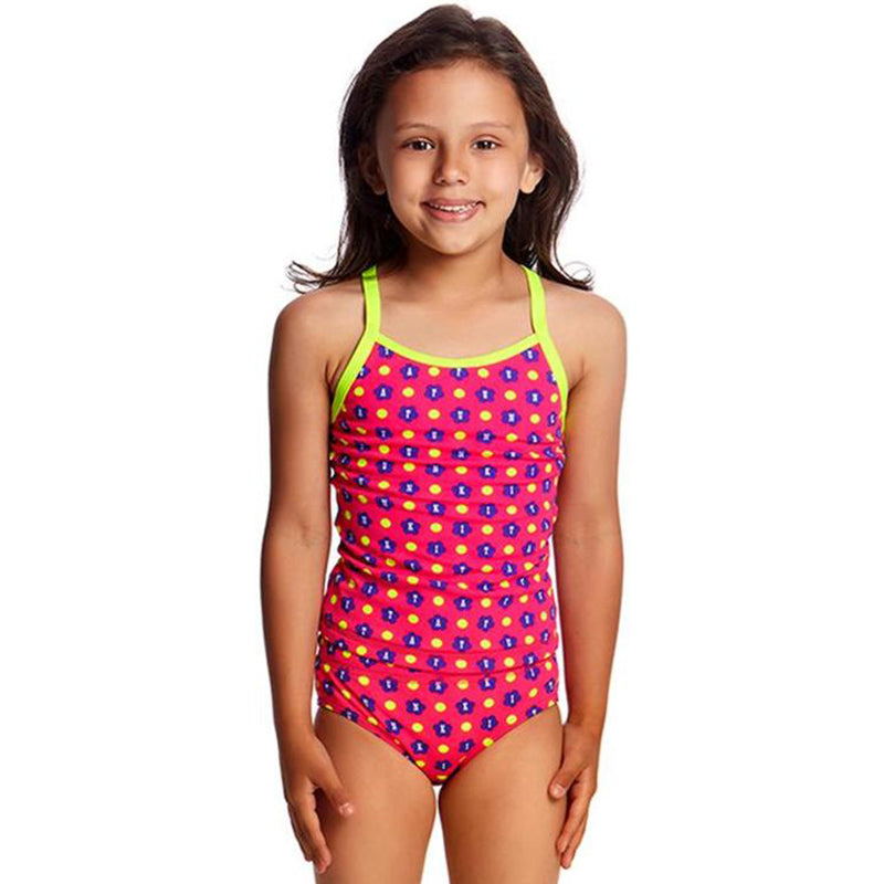 Funkita - Daisy Dots - Toddlers Girls Tankini Two Piece