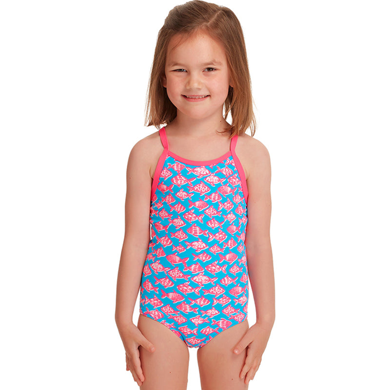 Funkita - Fancy Fish - Toddler Girls Printed One Piece