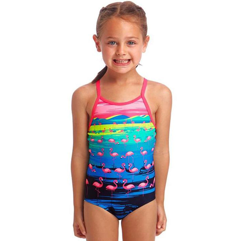 Funkita - Flamingo Flood - Toddler Girls Printed One Piece