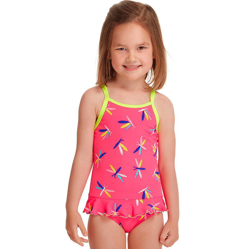 Funkita - Fly Dragon - Toddler Girls Belted Frill One Piece