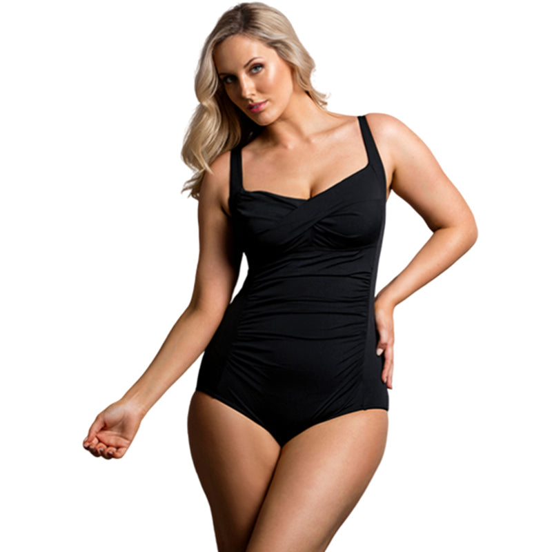 Funkita Form - Still Black - Ladies Ruched One Piece