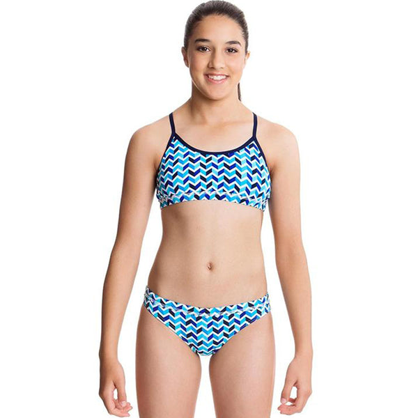 Funkita - Chevron Stream - Girls Racerback Two Piece