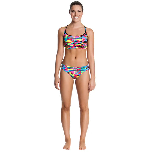 Funkita - Colour Frame - Ladies Sports Brief - Aqua Swim Supplies