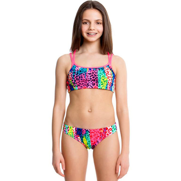 Funkita - Feline Fever - Girls Criss Cross Two Piece