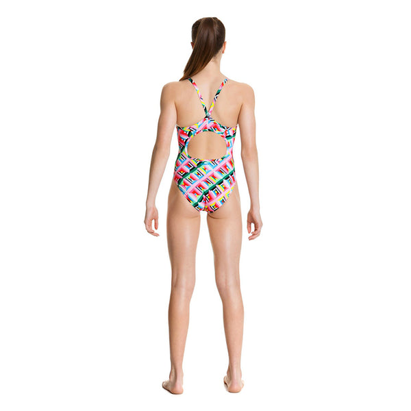Funkita - Pastel Party - Girls Diamond Back One Piece