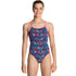 Funkita - Square Up - Girls Diamond Back One Piece