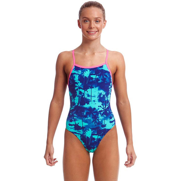 Funkita - Hawaiian Skies - Girls Tie Me Tight One Piece