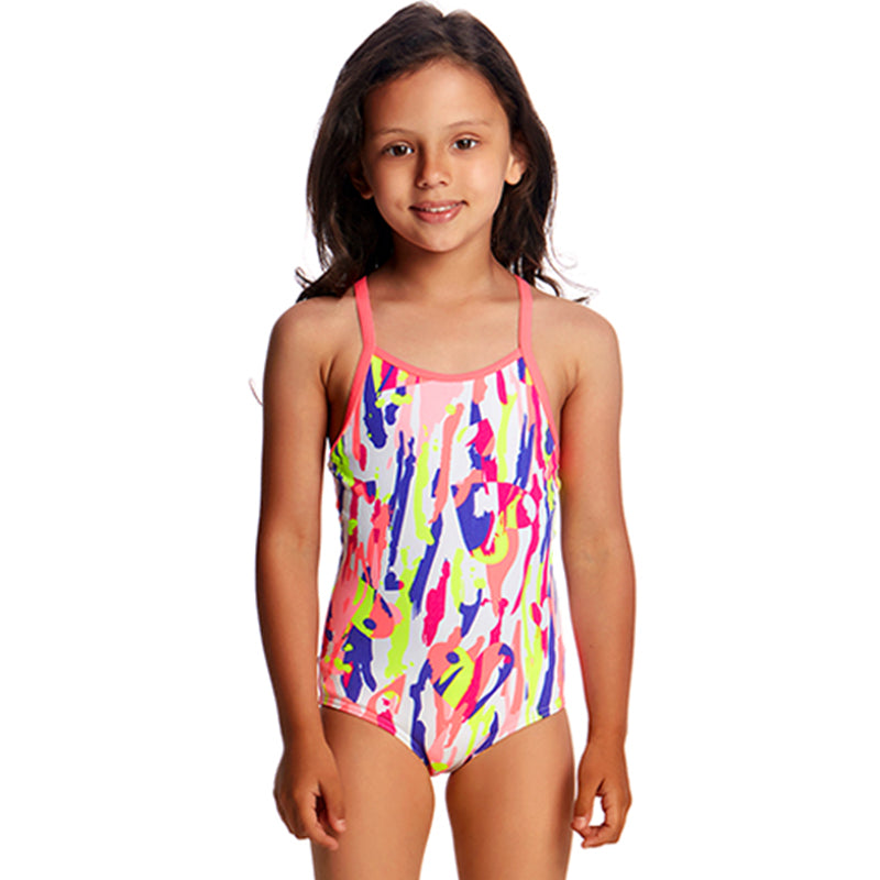 Funkita - Heart Splatter - Toddlers Girls One Piece