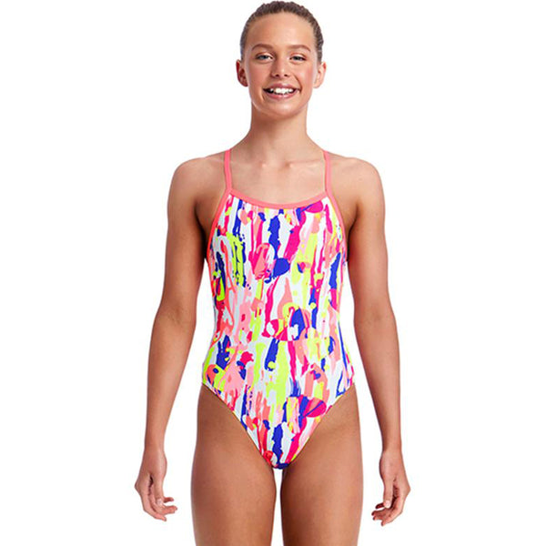 Funkita - Hearts Splatter - Girls Single Strap One Piece