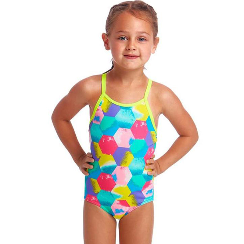 Funkita - Hexy Back - Toddler Girls Printed One Piece