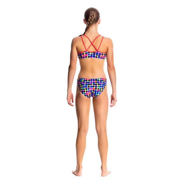 Funkita - Inked - Girls Criss Cross Two Piece