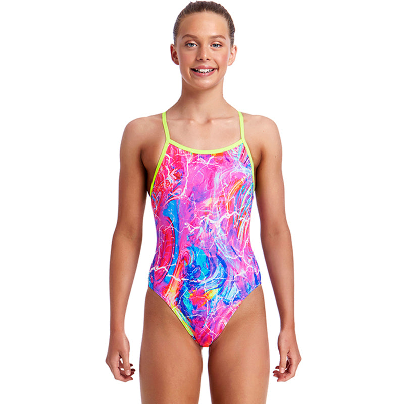 Funkita - Kaleidocolour - Girls Single Strap One Piece