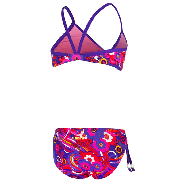 Funkita - Kiss Me Quick - Girls Tie Detail Two Piece - Aqua Swim Supplies
