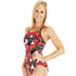 Funkita - Red Raptor - Ladies Diamond Back One Piece