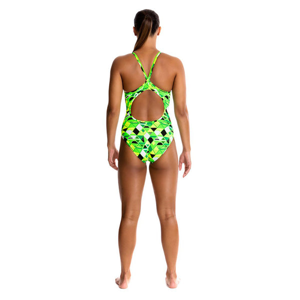 Funkita - Golden Glow - Ladies Diamond Back One Piece
