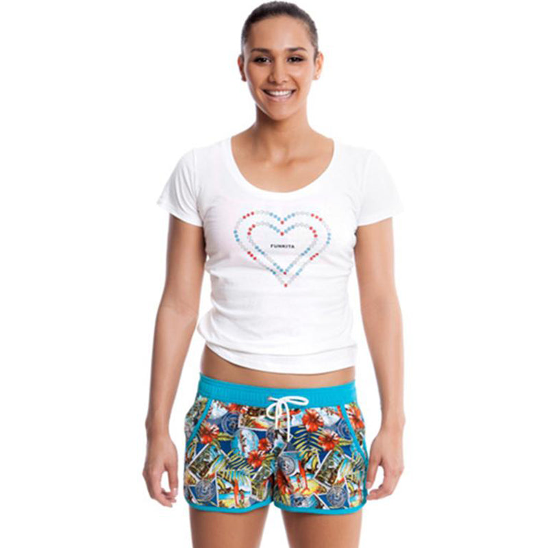 Funkita - Postcard Paradise - Ladies Beachwear Boardshorts