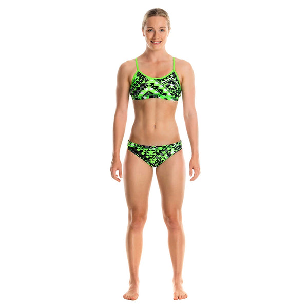 Funkita - Laser Cube - Girls Racerback Two Piece