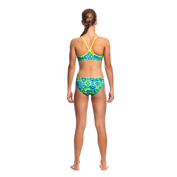 Funkita - Lime Light - Girls Racerback Two Piece
