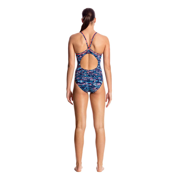 Funkita - Lotsa Dots - Ladies Diamond Back One Piece