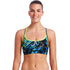 Funkita - Midnight Marble - Ladies Bikini Sports Top